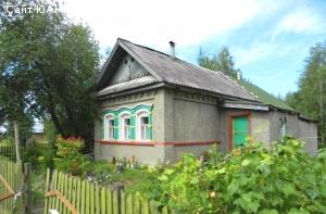 Кирпичный дом с баней, гаражом, камином и прудом у дома.