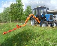 Покос травы  роторной косилкой (трактор МТЗ)