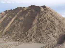 Продажа карьерного и речного песка. С доставкой