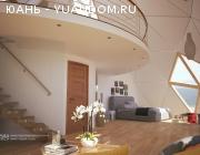 Умный Деревянный Купольный пасивхаус 200 м2